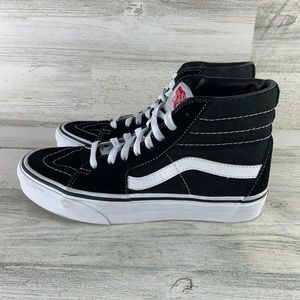 VANS Black/White High Top Skate Shoes Size 5.5